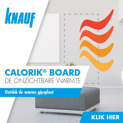 Knauf Calorik Board - de onzichtbare warmte